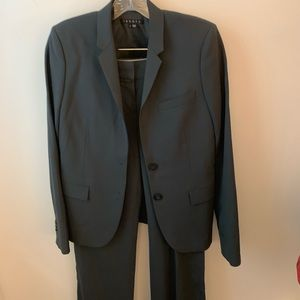 Theory pants suit, blue/gray, jacket sz 2/pants 6